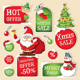 Set of Christmas price tags