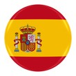 Obrazy na płótnie, fototapety, zdjęcia, fotoobrazy drukowane : Spanish Flag Badge - Flag of Spain Button Isolated on White