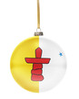 Bauble with the flag design of Nunavut.(series)