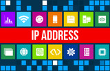 Ip address concept image with business icons and