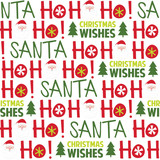 Seamless background with Santa and Ho ho ho design suitable for wrapping, wallpaper, decoration background