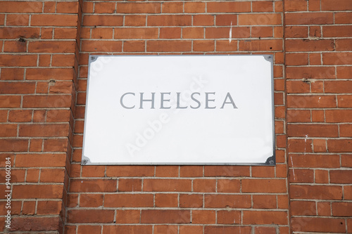 Poster Chelsea Street Sign; London