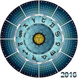 calendario astrale inglese 2016 poster