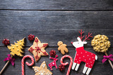 Fototapety Christmas festive homemade decorated sweets