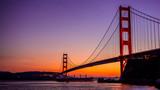 Golden Gate Bridge in San Francisco, CA, as seen from Vista Point near Horseshoe Bay-California-Central-Coast with super tanker passing underneath the bridge.