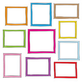 Fototapety Photo frames doodle sketch, vector