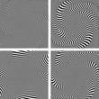Illusion of torsion  movement. Set.