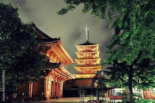 Plakát, Obraz Tokyo chrám