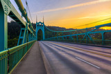 St. John's Bridge in Portland Oregon, USA - 94116846