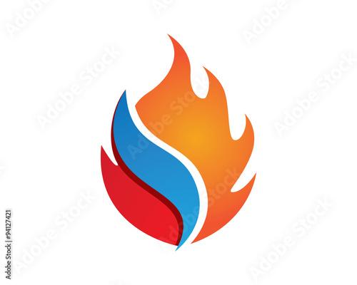 fire logo symbo... J Logo Fire