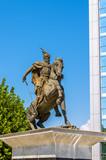 Statue of George Kastriot in Pristina - Kosovo poster