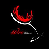 Fototapety Wine glass logo design