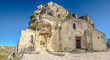 Ancient cave-church in the town of Matera, Basilicata, Italy