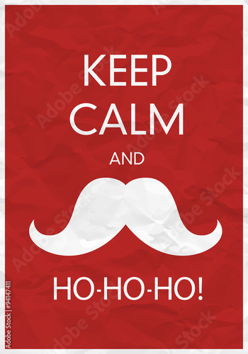 Plagát, Obraz Keep Calm And Ho-Ho-Ho!