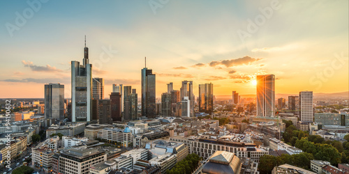 Frankfurt am Main late summer evening Poster