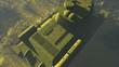 Постер, плакат: Top view of the legendary tank T 34 russian main battle tank time of World War II Realistic three dimensional animation