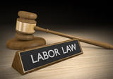 Labor law for worker benefits and fair employment poster