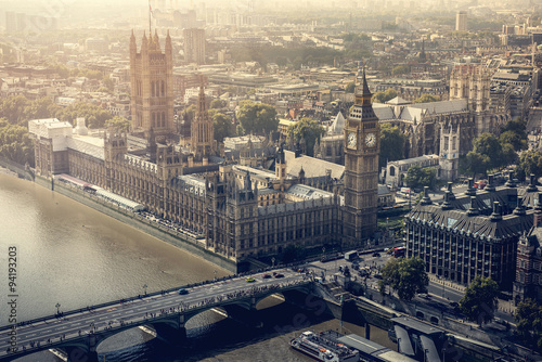 Zdjęcia na płótnie, fototapety, obrazy : London city aerial view