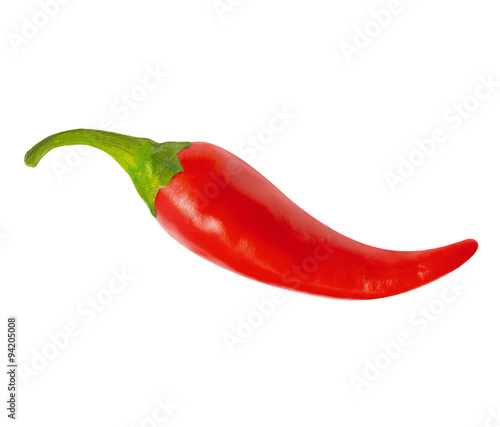 Aluminium Hot chili peppers One red hot chili pepper, with clipping path