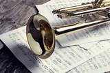 Trumpet and sheet mu...