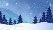 Winter theme landscape 3