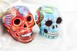 Ceramic skulls.