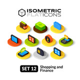 Fototapety Isometric flat icons set 12