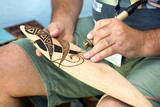 Process of making australian aboriginal boomerang.