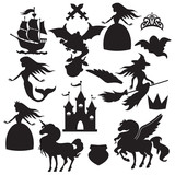 Fairy tale silhouette vector illustration