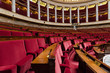 Hemicycle of French national assembly  in Paris, France