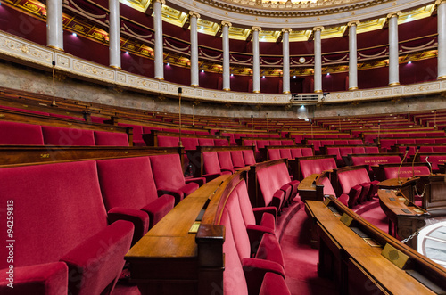 Hemicycle of French national assembly  in Paris, France Photo by zarg404