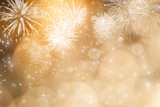 Fototapety Abstract holiday background with fireworks and sparkling lights