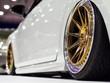 Modern fast car close-up