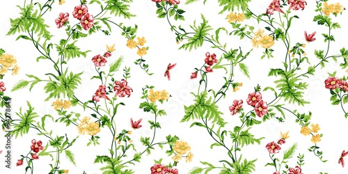 Fototapeta Echo Floral Seamless Pattern