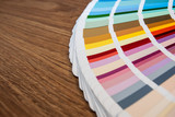 Fototapety Color palette on wood background