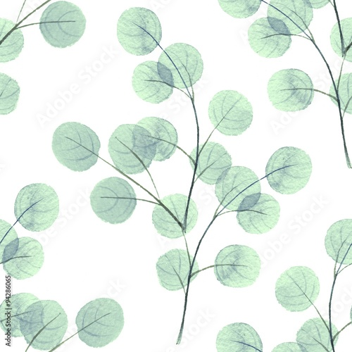Juliste Background with round leaves/ Seamless pattern 4