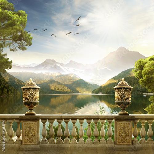 Zdjęcia na płótnie, fototapety na wymiar, obrazy na ścianę : Mountain landscape