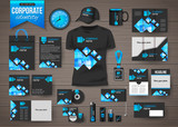 Corporate identity business photorealistic design template over