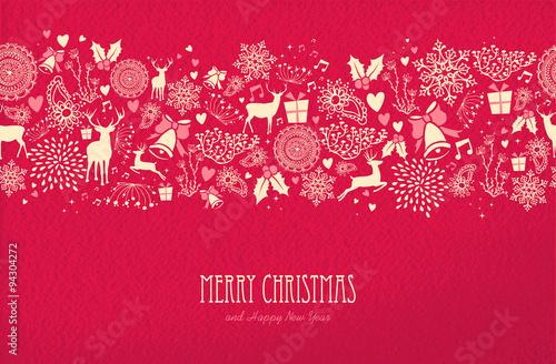 Wesołych Świąt szczęśliwego nowego roku karty wzór jelenia