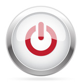 Red Power icon on chrome web button