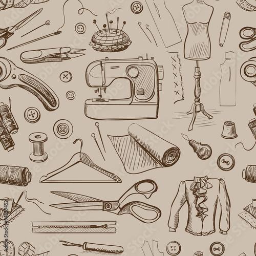 Hand drawn sewing pattern - 94359452