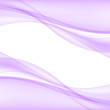 Abstract lilac waves - data stream concept. Vector Illustration