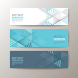 Fototapety banners template with abstract triangle pattern background