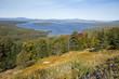 View of Mooselookmeguntic Lake from overlook in autumn, northern Maine.