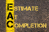 Business Acronym EAC as ESTIMATE AT COMPLETION poster