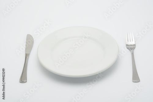 Plato vac o tenedor y cuchillo stock photo and royalty for Plato tenedor y cuchillo