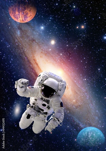 Foto op Canvas Nasa Astronaut spaceman outer space people galaxy planet solar system universe. Elements of this image furnished by NASA.