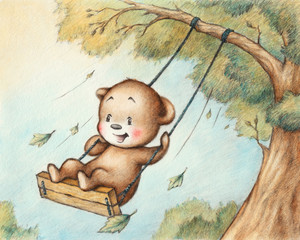 Swinging Teddy Bear