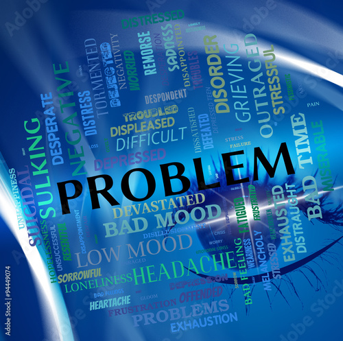 Poster Problem Word Means Predicament Misadventure And Issue