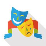 opera mask flat icon